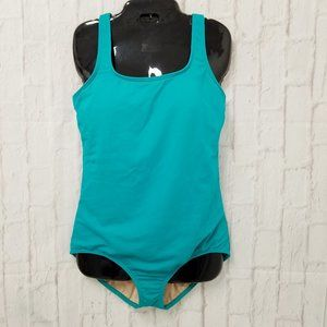 Lands' End 14L Long Green Swimsuit One Piece